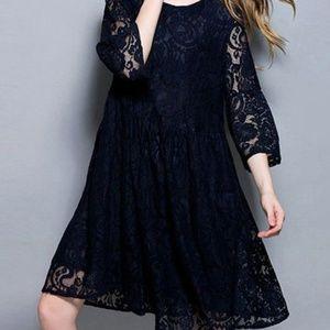 Dresses & Skirts - Bell Sleeve Lace Dress Blue XXL NWOT Wedding Plus